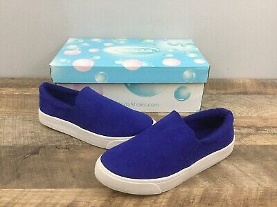 Soda Women's Casual Round Toe Slip On Flat Sneakers Shoes Blue Size 5.5 NEW