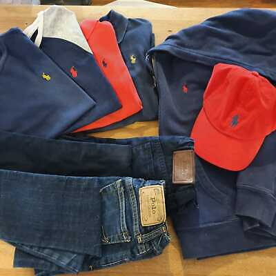 Boys Ralph Lauren Clothes Bundle (8 Items) - Aged 5-7 Years - RRP £400