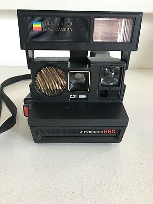 Original Vintage Polaroid Autofocus 660 Camera - Not Tested