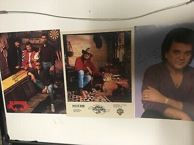 Alabama, Hank Williams Jr., Conway Twitty picture photo LOT