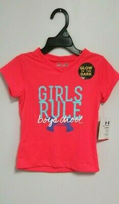 Under Armour Little Girls' Girls Rule Boys Drool Toddler T-Shirt - sizes 2T , 3T