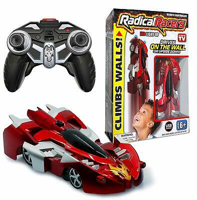Radical Racers - Remote Controlled Wall-Climbing Race Car - RED OR BLUE! NEW