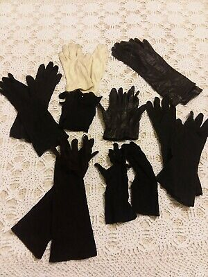 Vintage Ladies Women's Gloves Leather Cooton - Lot of 8 Pairs - Kislov - Fownes