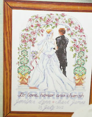 """Janlynn TO LOVE HONOR AND CHERISH Wedding Counted Cross Stitch Kit 9/"""" x 11.5/"""""""