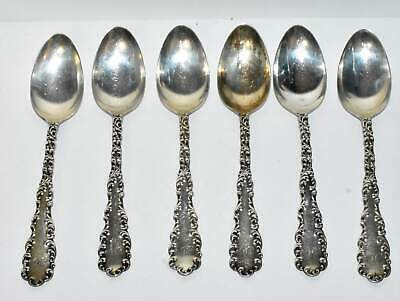 Vintage Set of 6 Waverly Pattern RW&S Wallace Sterling Silver Teaspoons Antique
