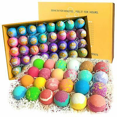 Bath Bomb Party Favors Set. 40 XL Individually Wrapped - New in Damaged Box