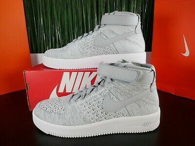 NIKE AIR FORCE 1 Ultra Flyknit Mid Mens Shoes Wolf Grey