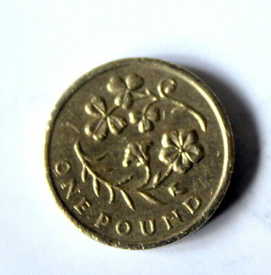 Irish Royal Floral Emblem shamrock & flax £1 ONE POUND COIN ref:8670/1 - 2014