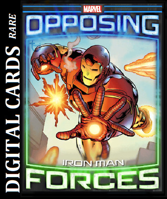 Topps Marvel Collect Card Trader Opposing Forces Iron Man Vs Mandarin
