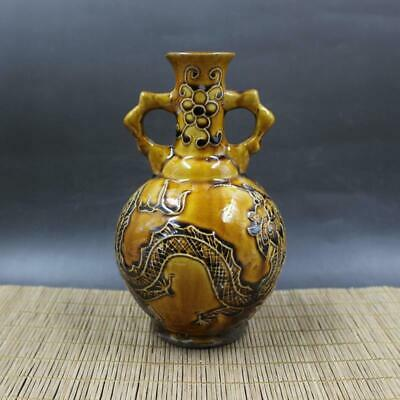 Chinese ancient antique hand make  Dragon pattern VASE  Porcelain decoration