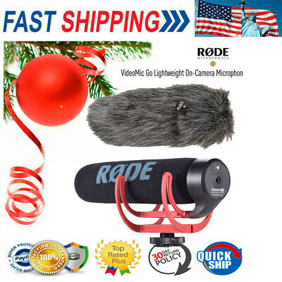 RODE VideoMic GO Super Cardioid Microphone On-Camera Mic for Canon Nikon Sony
