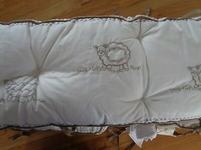 Pottery Barn KIDS SWEET LAMBIE CRIB BUMPER-NEW W/ TAGS-CUSTOMER RETURN