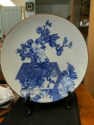 Antique Chinese/japanese Charger Plate / Blue And White good condition
