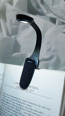 Book/Reading/ Bag Night Light Small Flexible Clip 2LED Light: Batteries included