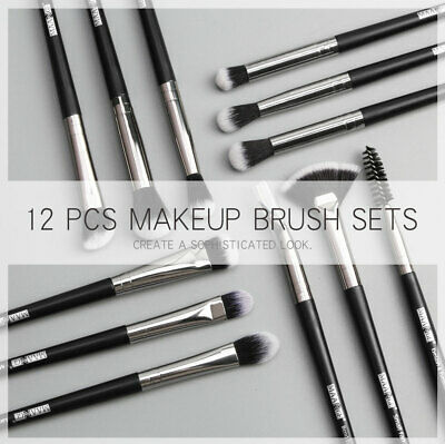 1/6/12pcs Makeup Face Brush Set Eye Shadow Blending Eyeliner Eyebrow Brushes-WI