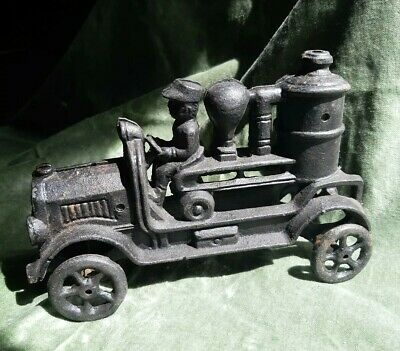 Vintage Cast Iron Fire Truck