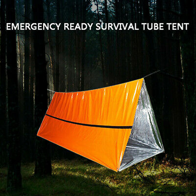1 PC Outdoor First-Aid Survival Emergency Tent Blanket Camping Bag Shelter A7F7