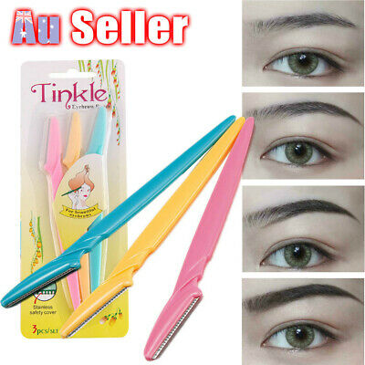 Eyebrow Shaver Trimmer Hair Remover Tool Tinkle Razor Shaper Face Blade