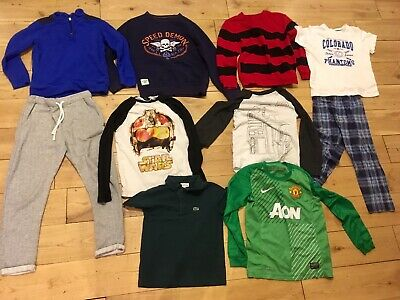 Boys 8-9 Years Bundle Lacoste Polo Shirt Next Joggers Manchester United Shirt