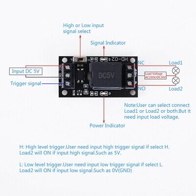 DC 5V 1-Channel Relay Module High Low Level Trigger Optocoupler Isolated Output