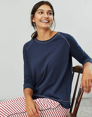 Joules Womens Abi Jersey Long Sleeve Night Top in FRENCH NAVY