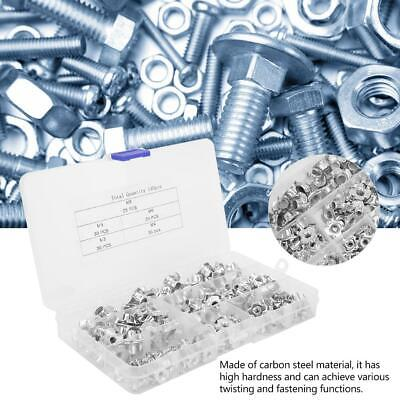 140pcs Carbon Steel Galvanized T Nut Four-Pronged M3/4/5/6/8 Tee Nuts Kit Silver