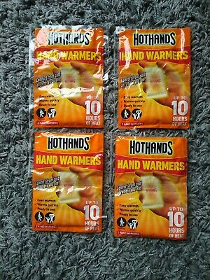 Hot Hands Hand Warmers - 4 Pairs Up to 10 Hours for Walking, Skiing, Golf