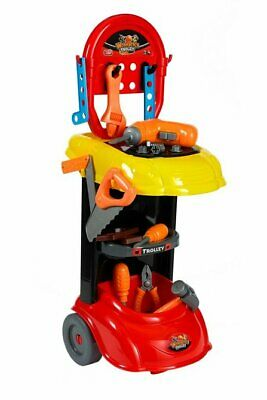 45PC KIDS CONSTRUCTION DIY TOOL SET TROLLEY BENCH PLAY WORK SHOP ELECTRIC NEW