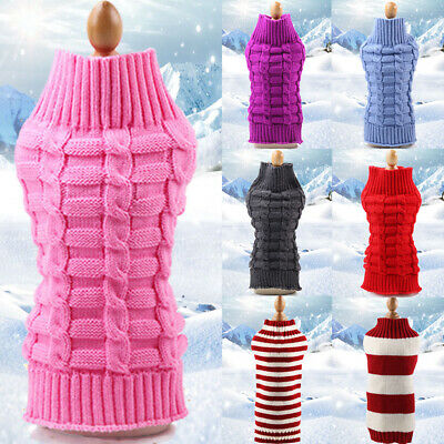 Christmas Dog Sweater Clothes Cute Knitted Jumper Apparel For Dog Small Large
