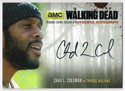 The Walking Dead - SEASON 4 PART 1 ☆ AUTOGRAPH CARD ☆ Tyreese #CLC2