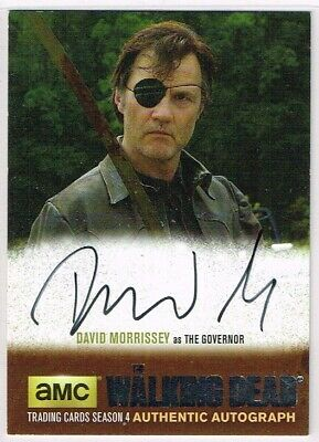 The Walking Dead SEASON 4 PART 1 SILVER PARALLEL AUTOGRAPH CARD ☆ Governor #DM1