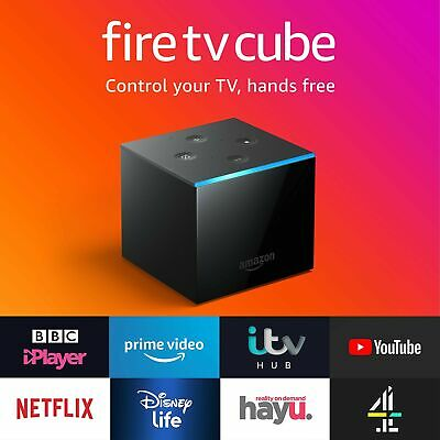 All-new Fire TV Cube   Hands free with Alexa, 4K Ultra HD streaming media pla...