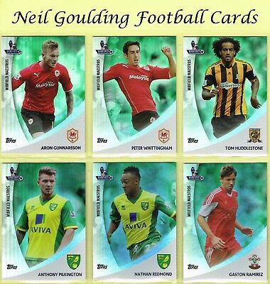 Topps PREMIER GOLD 2013 ☆ GREEN PARALLEL MIDFIELD MAESTROS ☆ Football Cards #/99