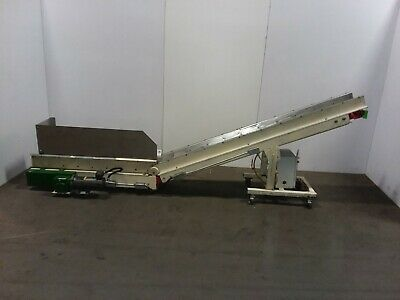 TEC Incline Parts Chip Conveyor Cleated Variable Speed 110v 1PH