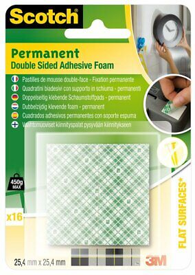 Scotch permanent double sided adheshive foam squares