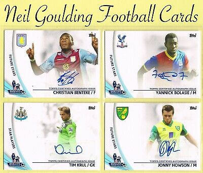 Topps PREMIER GOLD 2013 ☆ AUTOGRAPH ☆ Football Cards