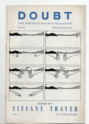 Doubt. The Fortean Society Magazine. Original Mid 50's issue 36 Tiffany Theyer.