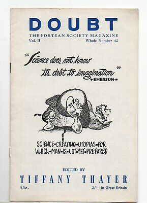 Doubt. The Fortean Society Magazine. Original Mid 50's issue 42 Tiffany Theyer.