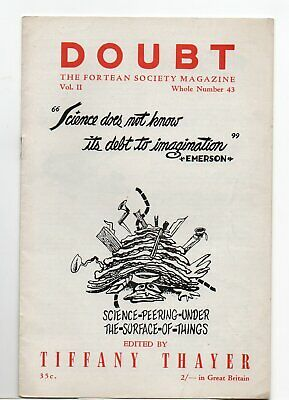 Doubt. The Fortean Society Magazine. Original Mid 50's issue 43 Tiffany Theyer.