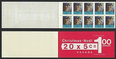 Canada BK73c: 1968 Christmas 5c Left Tab TAGGED booklet. Two panes of 502q VF-NH