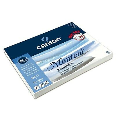 Canson Montval 300gsm watercolour practice paper pad including 100 sheets, si...