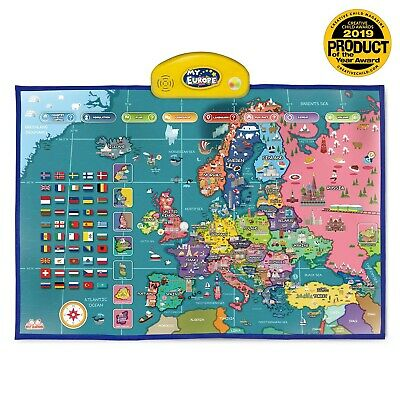 BEST LEARNING i-Poster My Europe Interactive Map - Educational Talking Toy fo...