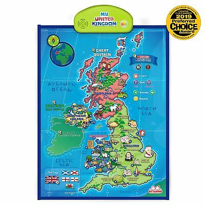 BEST LEARNING i-Poster My United Kingdom Interactive Map - Educational Talkin...