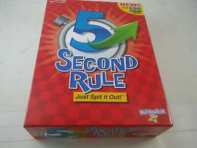 PlayMonster 5 Second Rule Game -150 cards & timer- New Edition