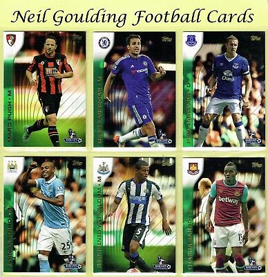 Topps PREMIER GOLD 2015 ☆ GREEN PARALLEL ☆ Football Cards #1 to #150
