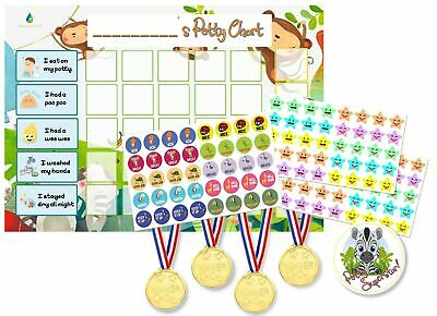 Potty Training Reward Chart Pack - Toilet Training Chart for Toddlers & Child...