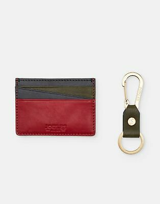 Joules Men Hobson   Leather Card Holder and Keyring Set in  in One Size
