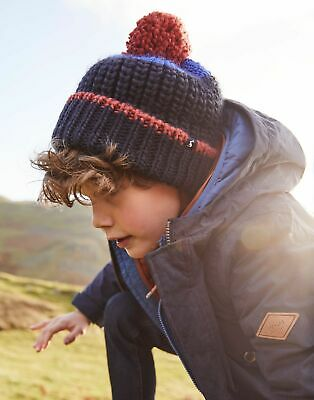Joules Boys Bobble Hat in FRENCH NAVY