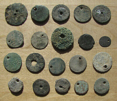 Twenty Holed, Mostly Uncleaned Ancient Coins