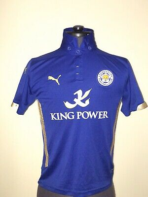 Leicester City FC 2013/2014 Home Football Shirt King Power UK  Ages 11/12